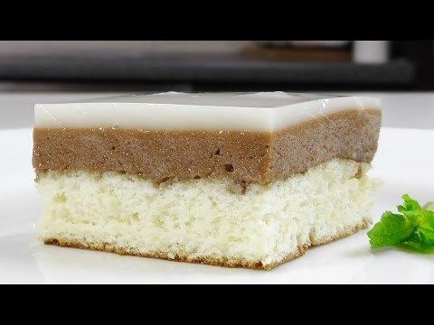 Бисквитное слоеное пирожное - Кулинарные видео рецепты