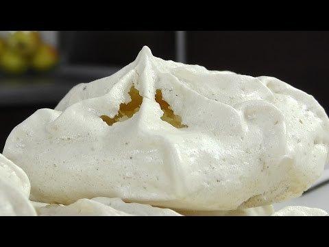 Пирожное безе с вафлями и орехами - Кулинарные видео рецепты